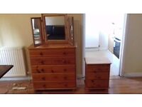 Dressing Table with Drawers and Bedside Cabinet with Drawers £35