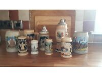 Collection of German Beer Steins