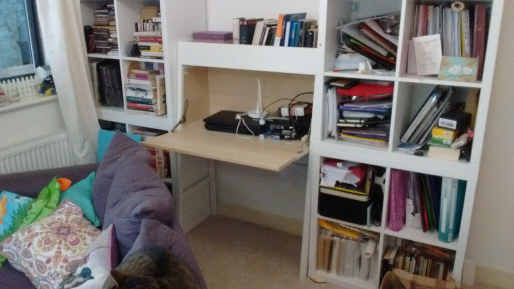 Ikea desk bureau ikea ps 2014 shelving in pic not included in