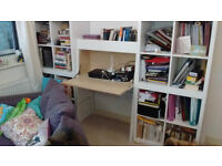 Ikea desk / bureau ikea ps 2014 (shelving in pic not included)