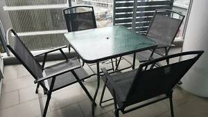Glass table and 4 chairs Wolli Creek Rockdale Area Preview