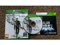 *As New* Quantum Break with DLC, Alan Wake & Add on packs - Xbox One