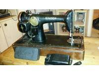 Vintage Singer sewing machine, singer parts and extras