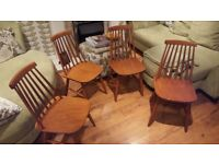 Vintage Retro 3 Ercol Style Windsor Style Country Cottage Style Pine Spindle Dining Chairs