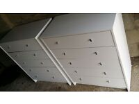 White chest of drawers. Two available. 30 quid each. Possibly delivery.
