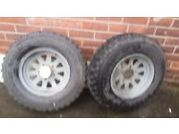 4x4 wheels 15 inch an tyres 5 studd full set of 5 off road