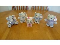 ELLIOT AND BUTTONS ELEPHANT SOFT TOYS COLLECTIBLE ITEMS SET OF 5