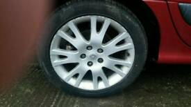 "Renault 17"" alloys with matching tyres"
