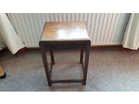Beautiful Vintage/Retro wooden Side table with ?Chinese carvings