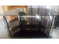 Quality Black Glass TV Stand