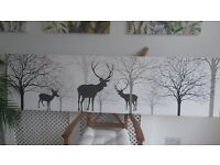 Poster, canvas and chinese wood carving picture
