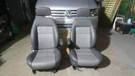 Leather front Swivel seats