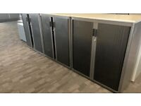 office furniture 1.2 meter tambours cupboards with 2 shelves
