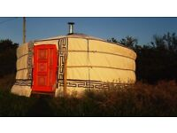 Yurt, Beautiful Authentic Mongolian Yurt, 5m - 16.5ft Canvas Tent, Marquee, Ger, Tipi, Wigwam