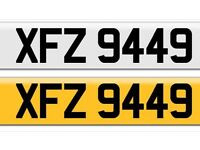 XFZ 9449 private cherished personalised personal registration plate number