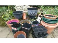 Assortment of garden pots