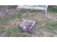 Very old natural stone trough