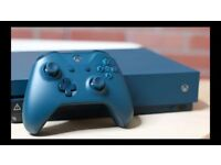 XBOX ONE CONSOLE WITH 500GB OF MEMORY (LIMITED EDITION BLUE)