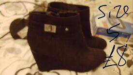 Size 5 wedge boots