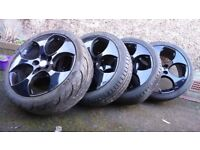 Monza Golf GTi 5x112 PCD Alloy Wheels with tyres VW/Audi Skoda