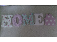 shabby chic home sign ornament