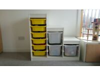 Ikea TROFAST storage combination with boxes (white)
