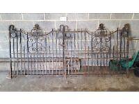 Edwardian Cast iron gates