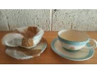 Coffee cups and saucer set