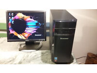 Powerful Lenovo Desktop PC and Dell monitor - as new