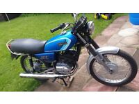 YAMAHA RXS100 CLASSIC BIKE, FULL MOT IN VERY NICE CONDITION FOR AGE,
