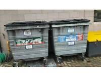Two galvanised 1100 waste