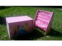 Princess toy box and book shelf
