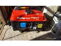 Petrol generator. Clarke g1200 (1100w) 3hp model. used once!