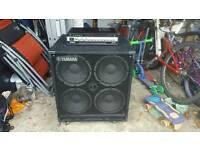 Yamaha Bass Guitar Amp (500w) and Cab (4x10)