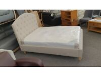 Furniture Village Lucia Fabric King Size Bed Frame (BED ONLY) Can Deliver