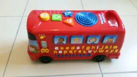 Vtech toy bus with phonics