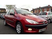 2005 PEUGEOT 206 1.4 ZEST 2++ONLY 91000 MILES++10 MONTH M.O.T++FULL SERVICE HISTORY++