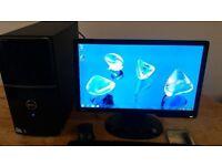 """SSD -Dell Vostro 220 MIDI TOWER Computer PC & 19"""" Benq LCD - LAST FEW LEFT - SAVE £20"""