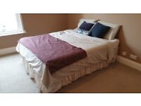 King size bed divan with storage drawers and mattress.