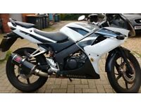 Honda CBR 125cc RW-7 2008 White Great Condition