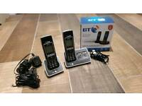 BT Twin Digital Cordless Telephone with Answer Machine and Call Blocker RRP £69.99