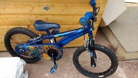 "Blue 16"" children's bike"