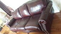 100% Leather Couch and Loveseat