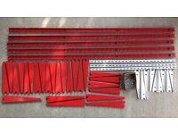 Metal slot shelving bundle including SPUR - as new