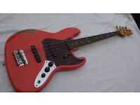 Fender Bass Guitar Road Worn Jazz 60's Fiesta Red