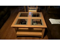 Used, in Good condition, wood coffee table is available