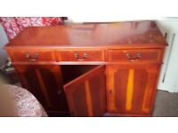 solid wood veneer cupboard with drawers £35 buyer collects