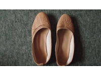 Morrocan leather shoes size 6-7
