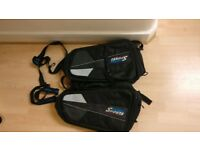 Oxford Sports Motorcycle luggage travel side suit cases panniers black