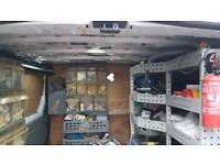 Van racking shelving steel 4 units